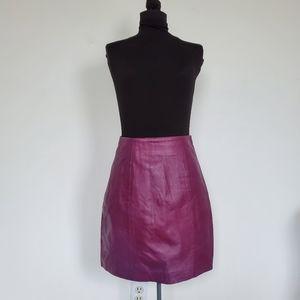 Vintage Aubergine Purple Leather Skirt 6